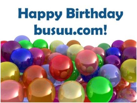 Happy Birthday busuu.com