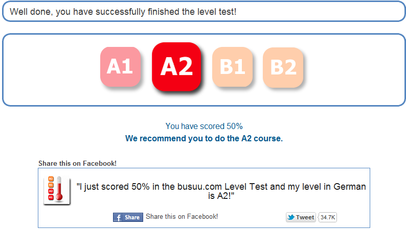 busuu.com Level Test